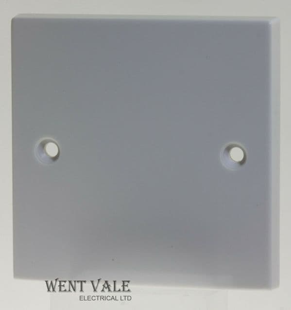 British General 900 Series  904-01 White Moulded - Single Blanking Plate